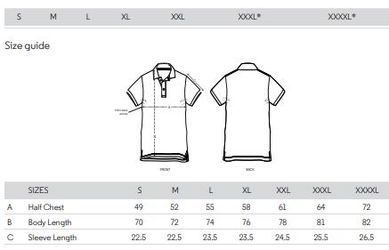 polo sizes